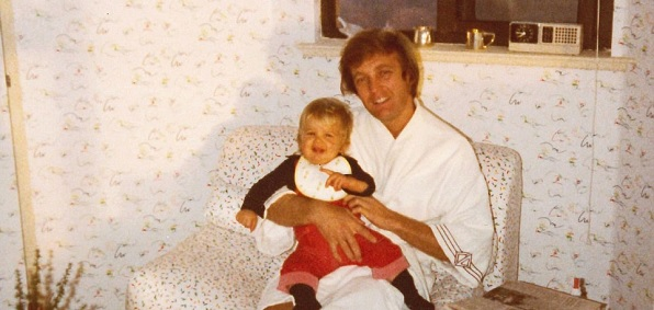 Donald Trump as a young father