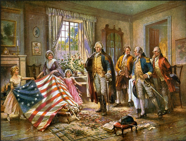 Betsy Ross and her flag