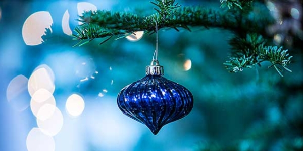 Holiday blues Christmas ornament