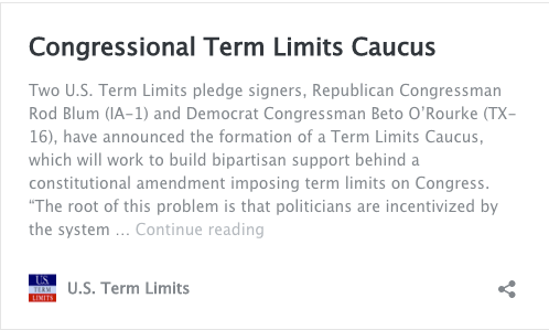congressional term limits essay Term limits lead to a citizen congress, rather than one filled with lawyers and career politicians there is less chance for corruption of government.
