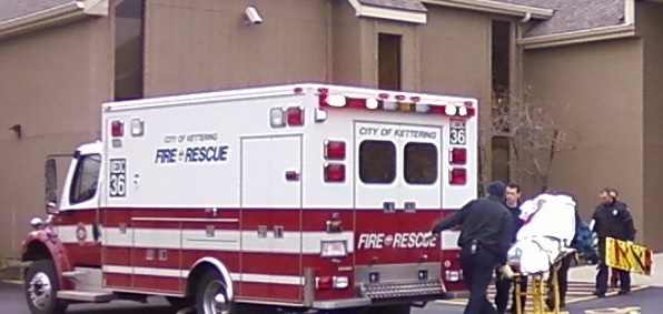 An ambulance at an abortion business