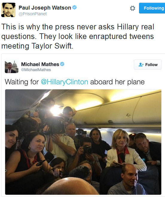 hillary-clinton-plane-press-corps-masks-paul-joseph-watson-tw-600