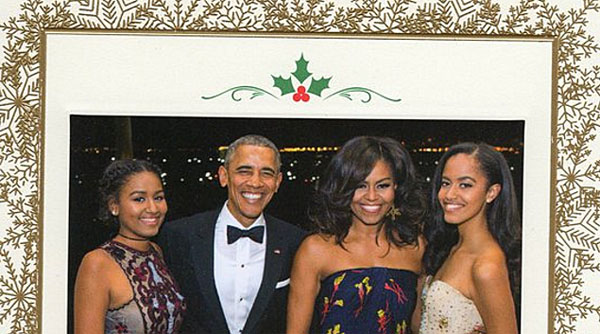 Obama Christmas card doesn't mention C-word, again