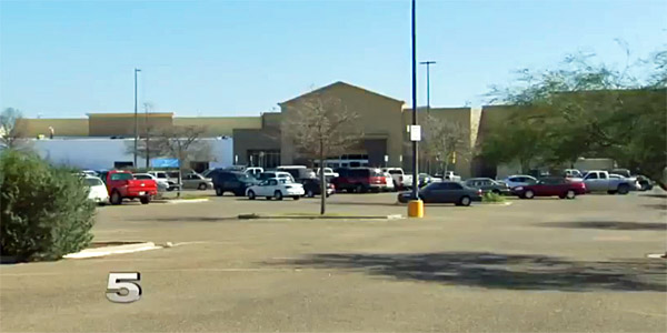 An abandoned Walmart building in Brownsville, Texas, where illegal immigrant minors will be housed after March (Photo: Screenshot/KRGV-TV 5)