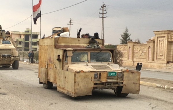 "The ""modern"" Iraqi army funded by the U.S."