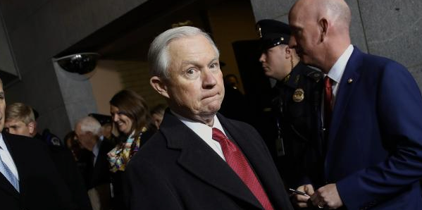 Former Sen. Jeff Sessions just took office as President Trump's new attorney general less than a week ago.