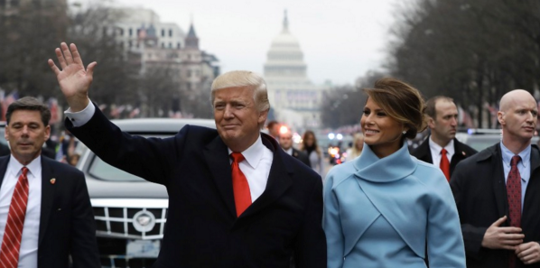 President Donald Trump and wife, Melania, on Inauguration Day