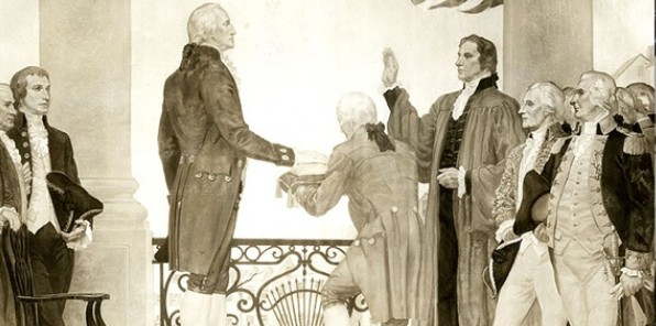 The inauguration of President George Washington