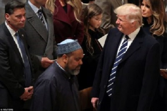 Imam Mohamed Magid at National Prayer Service held at the National Cathedral in Washington, D.C., on Jan. 21, 2017