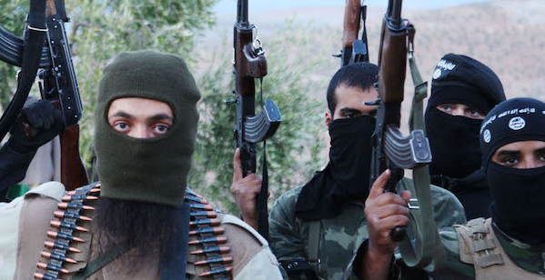 Sept. 30, 2014 - (FILE PHOTO) - ISIS militants  like these in Syria are filing into Mexico. (Credit Image: © Medyan Dairieh/ZUMA Wire/ZUMAPRESS.com)