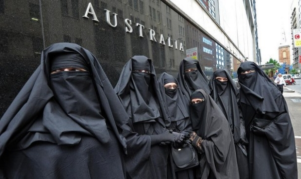 Australia recently passed a law requiring women with Muslim face coverings to sit behind glass while viewing the proceedings at Parliament.