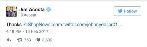 Acosta tweet