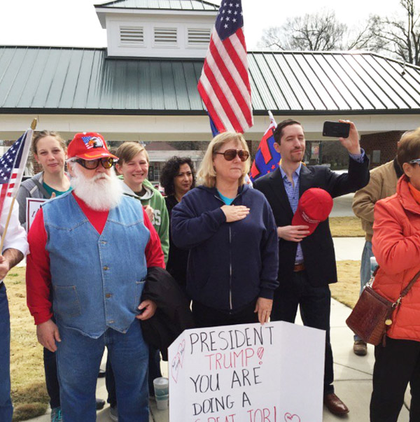 Feb. 27, 2017, Spirit of America rally in Concord, North Carolina (Photo: Twitter)
