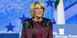 Education Secretary Betsy DeVos speaks at CPAC on Feb. 23, 2017 (Photo: Screenshot)