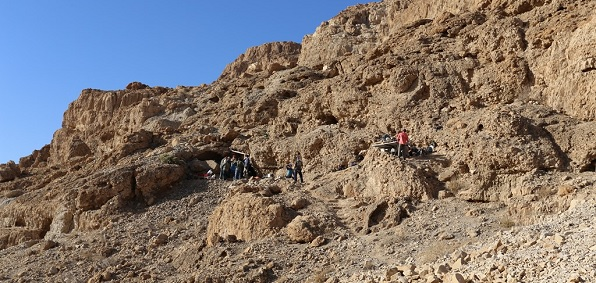Entrance to Dead Sea Scrolls Cave 12 (Photo: Casey L. Olson and Oren Gutfeld)