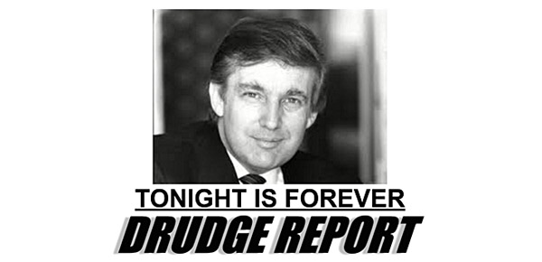 The Drudge Report's main headline on Oct. 19, 2016, when then-presidential candidates Hillary Clinton and Donald Trump faced off in their third and final presidential debate three weeks before Election Day (Photo: Screenshot)
