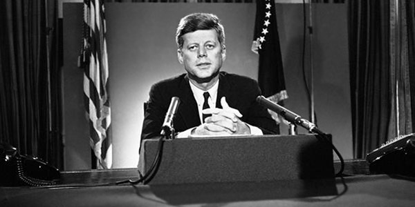 President John F. Kennedy addresses nation regarding the October 1962 Cuban Missile Crisis