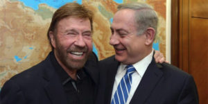 Action star Chuck Norris with Israel Prime Minister Benjamin Netanyahu (Photo: Twitter)