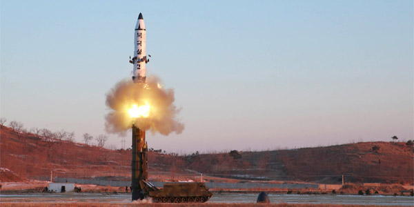 Test fire of Pukguksong-2 (Photo: North Korea's Korean Central News Agency)
