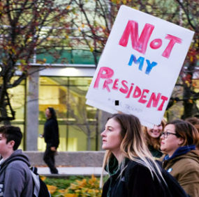 Anti-Trump protest at Wayne State University