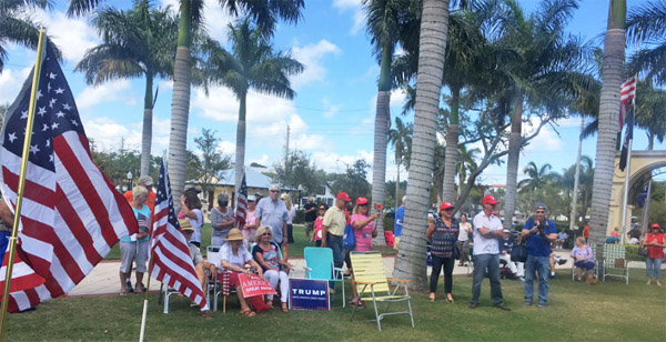 Feb. 27, 2017, Spirit of America rally in Stuart, Florida (Photo: Twitter)