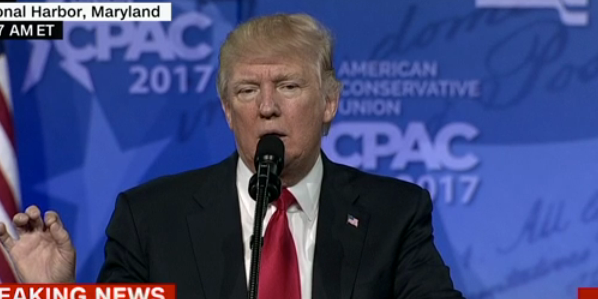 President Trump speaks at CPAC on Feb. 24, 2017.