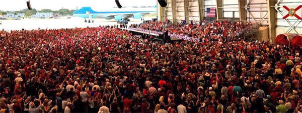 Rally for President Donald Trump in Melbourne, Florida, on Feb. 18, 2017 (Photo: Twitter)