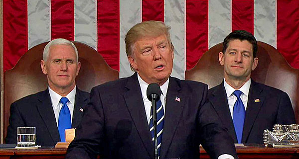 President Trump delivers his big speech to a joint session of Congress on Feb. 28, 2017