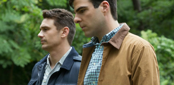 "James Franco and Zachary Quinto in ""I am Michael"""