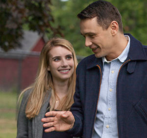 "Emma Roberts as Rebekah Glatze and James Franco as Michael Glatze in ""I am Michael"""