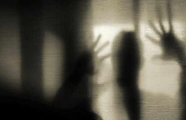 Mystic silhouette man devil satan evil