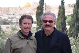 Sen. Rand Paul and Joseph Farah in Israel.