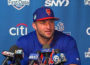 Tim Tebow at a New York Mets news conference in Port St. Lucie, Florida (Video screenshot)