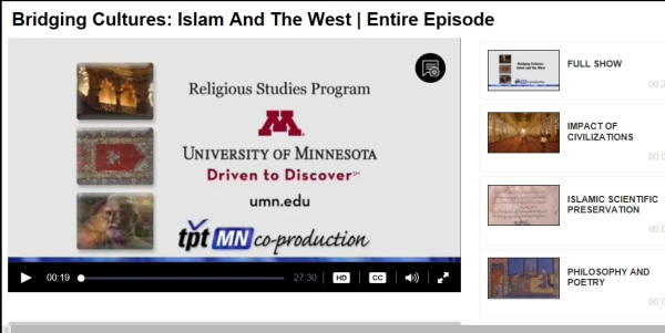 Screenshot from NEH series Shared Cultural Spaces: Islam and the West in the Arts and Sciences- 2011-2013