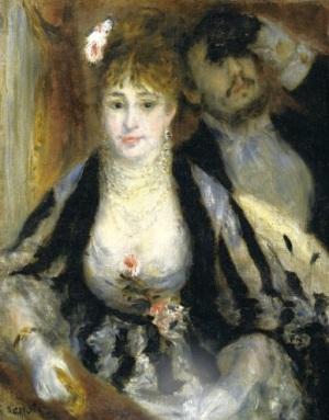 Smaller version of Renoir's 1874 La Loge, possibly belonging to Melania Trump