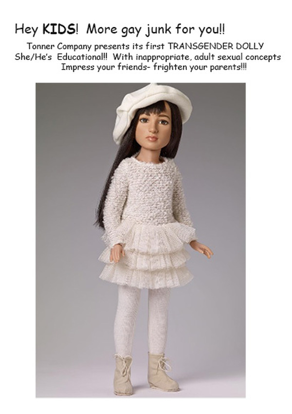 "Tonner Company proudly offers their first 'transsexual' doll"" Jazz"