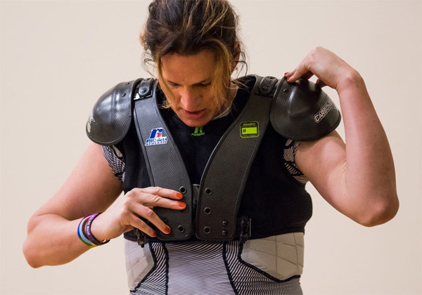 Transgender football player Christina Ginther (Photo: Minnesota Public Radio)