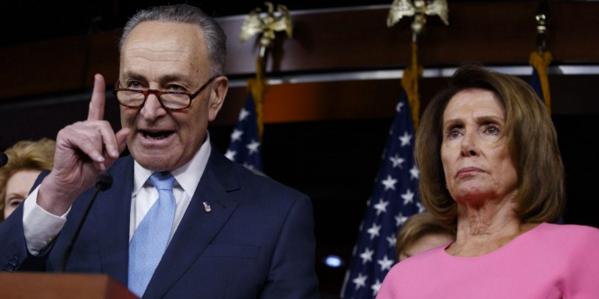 Senate Minority Leader Chuck Schumer and House Minority Leader Nancy Pelosi