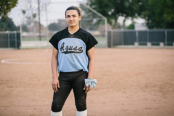 Transgender Pat Cordova-Goff, born a male, was recently allowed to join the girls' softball team