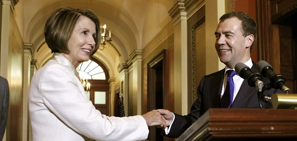 smiling pelosi caught in photo with putin u0026 39 s right