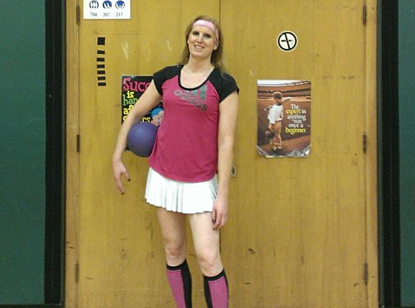 Transgender dodgeball player Savannah Burton