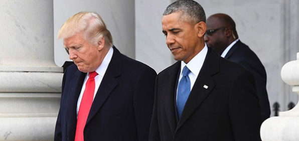 President Donald Trump with former President Barack Obama (Photo: Twitter)