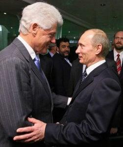 Bill Clinton and Vladimir Putin