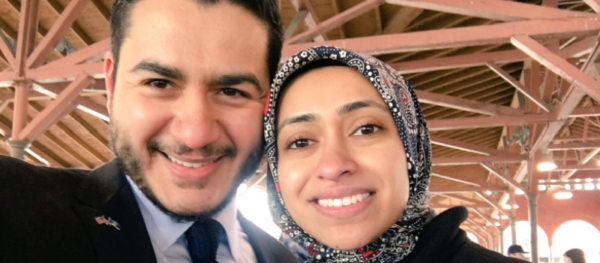 Abdul El-Sayed with wife Sarah.