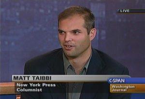 Rolling Stone reporter Matt Taibbi