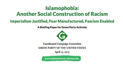 Cover page and title of the briefing paper published by the Green Party