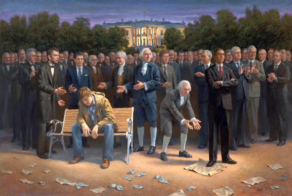 """The Forgotten Man"" by Jon McNaughton – acrylic, 2011"