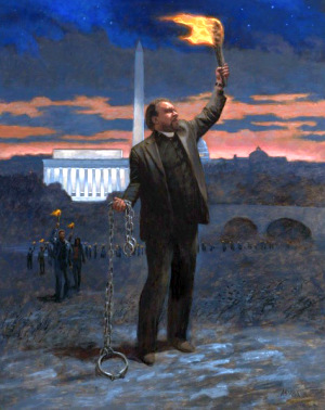 """Runaway Slave"" – symbolic portrait of Rev CL Bryant by Jon McNaughton"