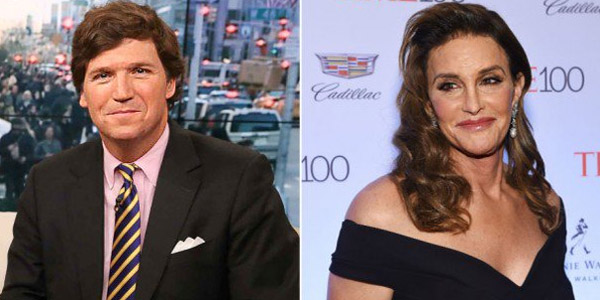 Fox News' Tucker Carlson (left) and 'Caitlyn' Jenner (right)