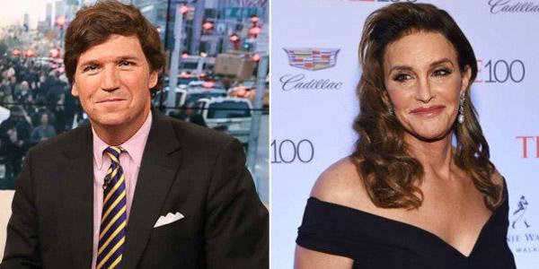 Fox News' Tucker Carlson (left) and 'Caitlyn' Jenner (right)